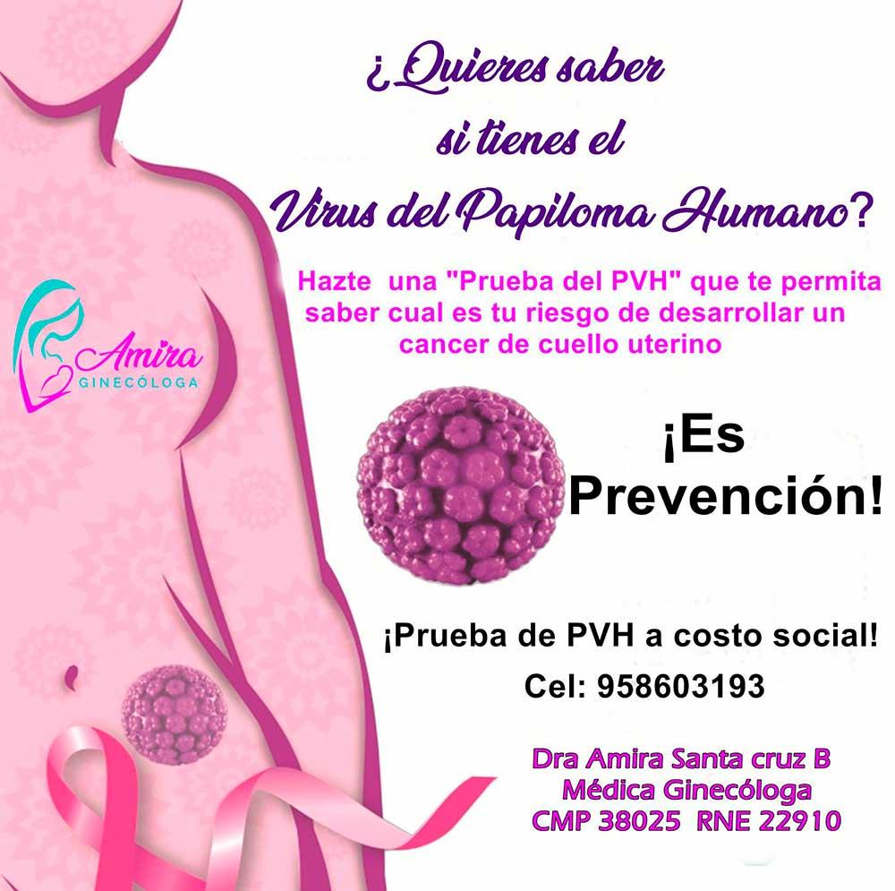Amira Ginecologa Obstetra - Prueba de VPH